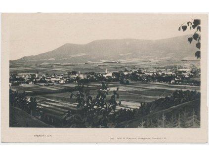 39 - Novojičínsko, Frenštát pod Radhoštěm, celk. pohled na město, 1933
