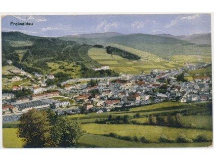 21 - Jeseník, Freiwaldau, celkový pohled na město, cca 1925
