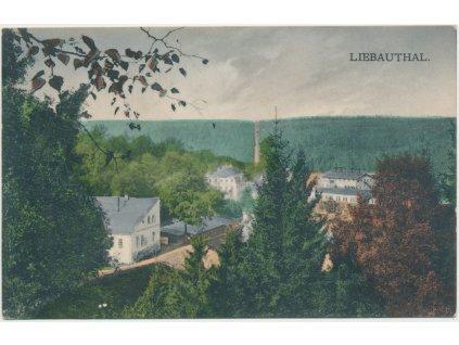 59 - Sokolovsko, Libavské Údolí, pohled na obec, cca 1931