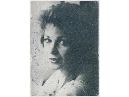 Magálová Kamila, slovenská herečka, fotografie s vlastnoruč. podpisem