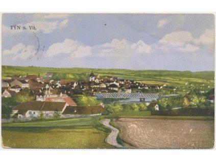 12 - Českobudějovicko, Týn nad Vltavou, celkový pohled, cca 1914