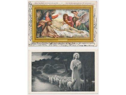 Sestava 6 - ti ks pohlednic s náboženskou tématikou