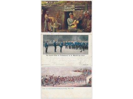 Sestava 10 - ti ks pohlednic s vojenskou tématikou