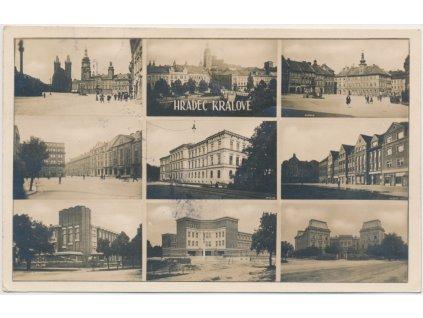 19 - Hradec Králové, 9 - ti záběr dominant města, cca 1919