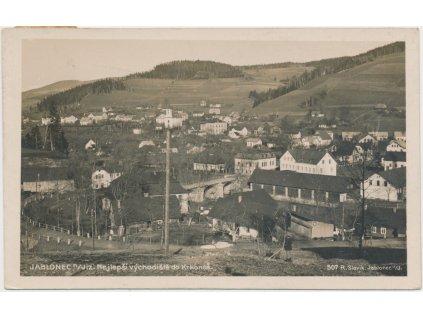 58 - Semilsko, Jablonec nad Jizerou, pohled na město, foto Slavík, 1930