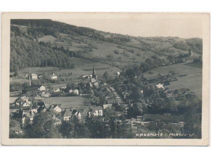 66 - Trutnovsko, Maršov IV, Nový Maršov, celkový pohled na obec