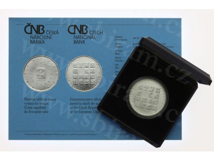ČR, Vstup ČR do EU, 2004, 200 Kč, Ag ,13 gramů, b.j., stav 0/0