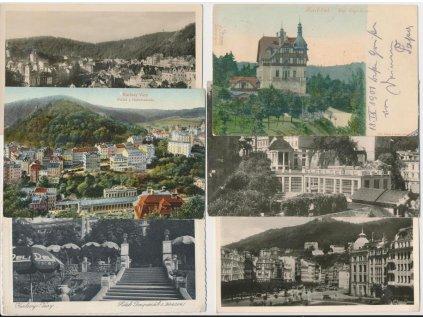 25 - Karlovy Vary, sestava 12 - ti ks pohlednic...