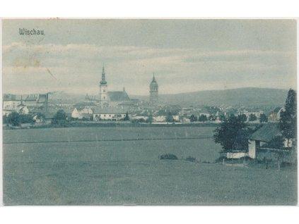 72 - Vyškov, Wischau, pohled na město, cca 1910