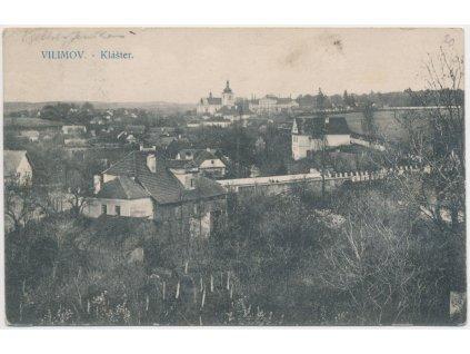 17 - Havlíčkobrodsko, Vilímov, celkový pohled, Klášter, cca 1913