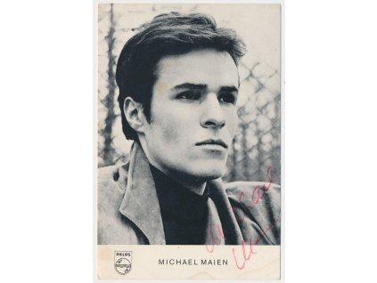 Maien Michael (1947), populární německý herec, sběratelská karta