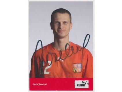 Rozehnal David (1980), fotbalový obránce, sběratelská karta s podpisem