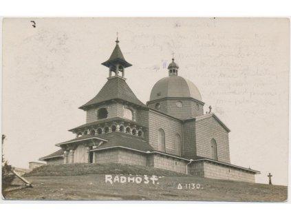 39 - Novojičínsko, Radhošť, partie u Kaple sv. Cyrila a Metoděje, 1927