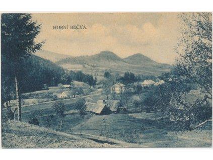 71 - Vsetínsko, Horní Bečva, pohled na část obce, Nakl. V Neubert, 1922