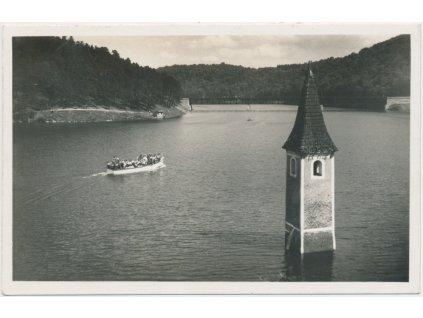 71 - Znojemsko, Vranovská přehrada, zatopený kostel v Bítově, Grafo Čuda