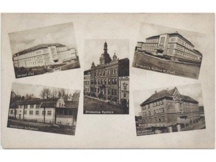 60 - Strakonice, 5 - ti záběr, restaurace Na Podskalí, radnice..., cca 1932