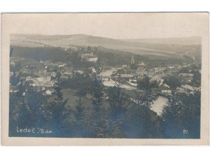17 - Havlíčkobrodsko, Ledeč nad Sázavou,celkový pohled, cca 1923