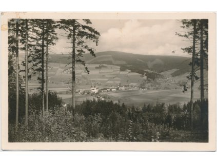 57 - Rychnovsko, Deštné, Orlické hory, celkový pohled, cca 1950