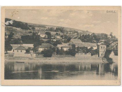 51 - Praha - západ, Davle, pohled na část městyse, cca 1922