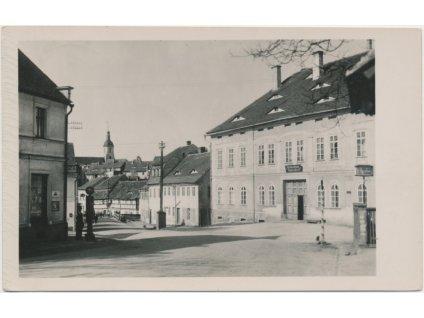 65 . Teplicko, Ebersdorf - Habartice, ulice s domy v zaniklé obci, 1935