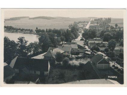 17 - Havlíčkobrodsko, Habry, pohled na město, cca 1935