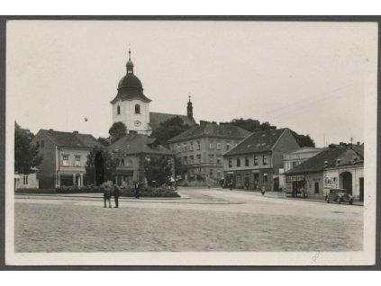 36 - Mladoboleslavsko, Dobrovice, náměstí, nakl. Zubák, cca 1940