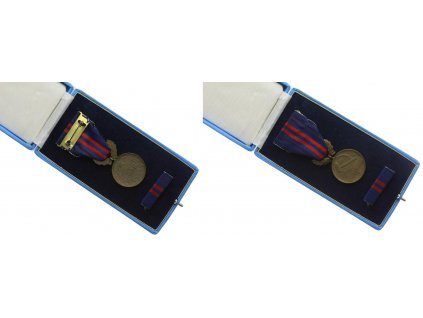 ČSSR, AE medaile Za vynikající práci , stuha, stužka, krabička
