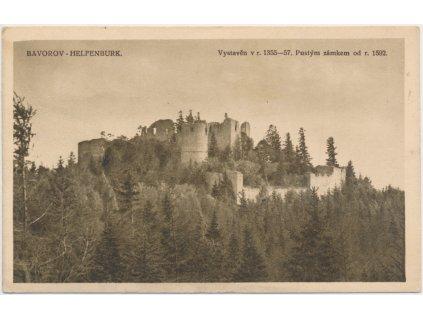 60 - Strakonicko, pohled na zříceninu hradu Helfenburg, cca 1927