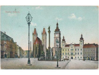 19 - Hradec Králové, partie z náměstí, cca 1913