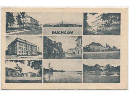 65 - Teplicko, Duchcov, 9 - ti záběr dominant města, škola, zámek...