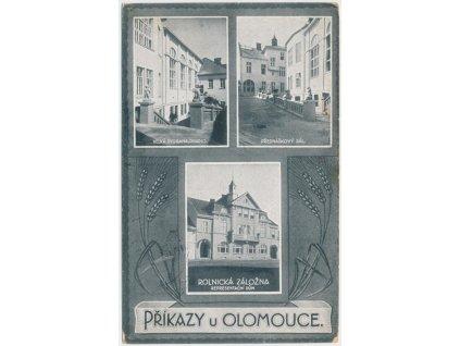 41 - Olomoucko, Příkazy, 3 - záběr, rolnická záložna, divadlo..., 1925