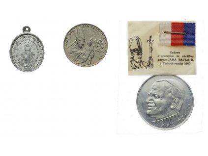 Náboženský motiv, 3 ks medailí, každá jiná, zajímavé