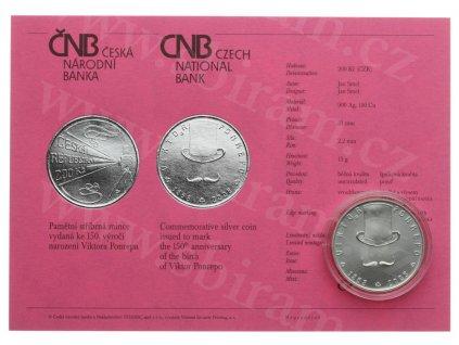 ČR, 200 Kč, Viktor Ponrepo, 2008, Ag 0,900, váha 13 gramů, kapsle