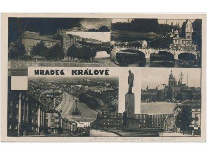 19 - Hradec Králové, 7 - mi záběr dominant města, cca 1929