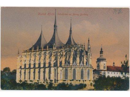 31 - Kutná Hora, Velechrám sv. P. Barbory, cca 1918