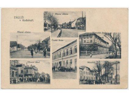 37 - Mostecko, Záluží, 6 - ti záběr dominant zaniklé obce, cca 1922