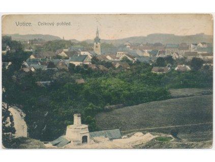 01 - Benešovsko, Votice, celkový pohled na město, cca 1916