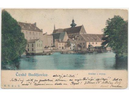 12 - České Budějovice, partie u mlýnů a kláštera, cca 1900