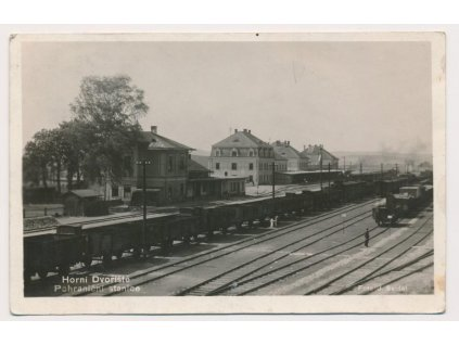 13 - Českokrumlovsko, Horní Dvořiště, vlakové nádraží,foto Seidel,1934