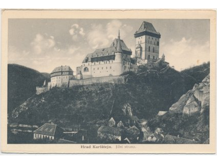 02 - Berounsko, jižní strana hradu Karlštejn