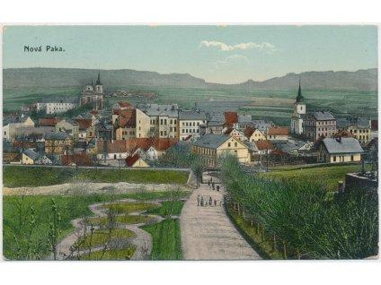 22 - Jičínsko, Nová Paka, celkový pohled na město, cca 1916
