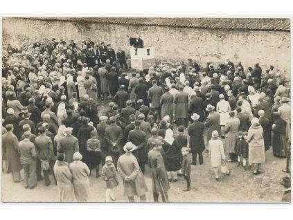 67 - Třebíč, oživená partie z emigračních slavností, 1929, ojedinělé!