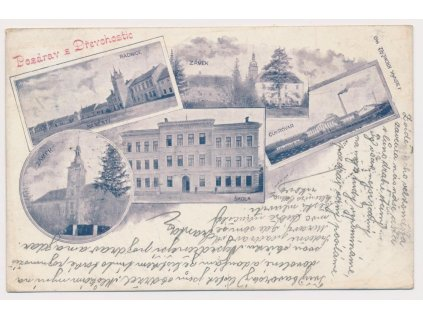 53 - Přerovsko, Dřevohostice, 5 - ti záběr dominant města, cca 1899