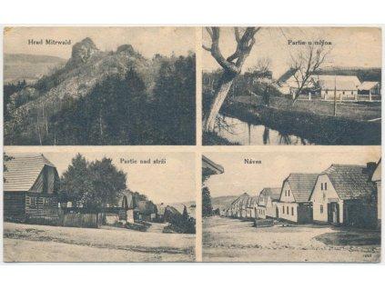 56 - Rokycansko, Lhota pod Radčem, 4 - záběr, partie u mlýna, náves...