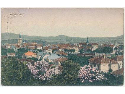 56 - Rokycany, celkový pohled na město, cca 1914