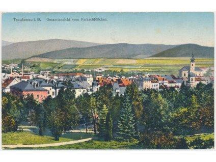 66 - Trutnov, celkový pohled na město, cca 1920