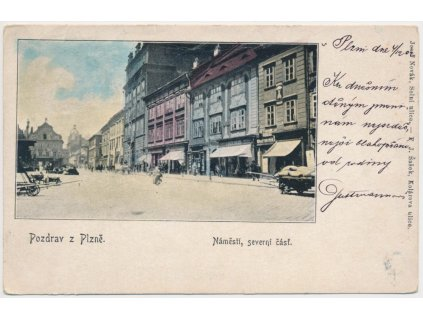 47 - Plzeň, oživená severní část náměstí, cca 1902
