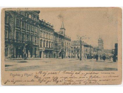 47 - Plzeň, oživená Ferdinandova třída, cca 1900