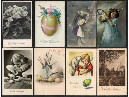 """Sestava 14 - ti ks námětových pohlednic, """"Veselé Velikonoce"""", pěkné..."""