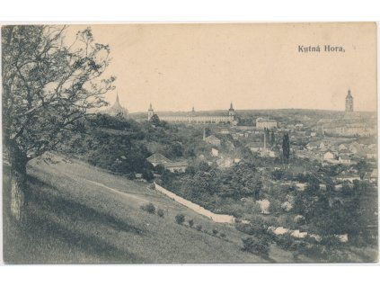 31 - Kutná Hora, celkový pohled na historické město, cca 1909
